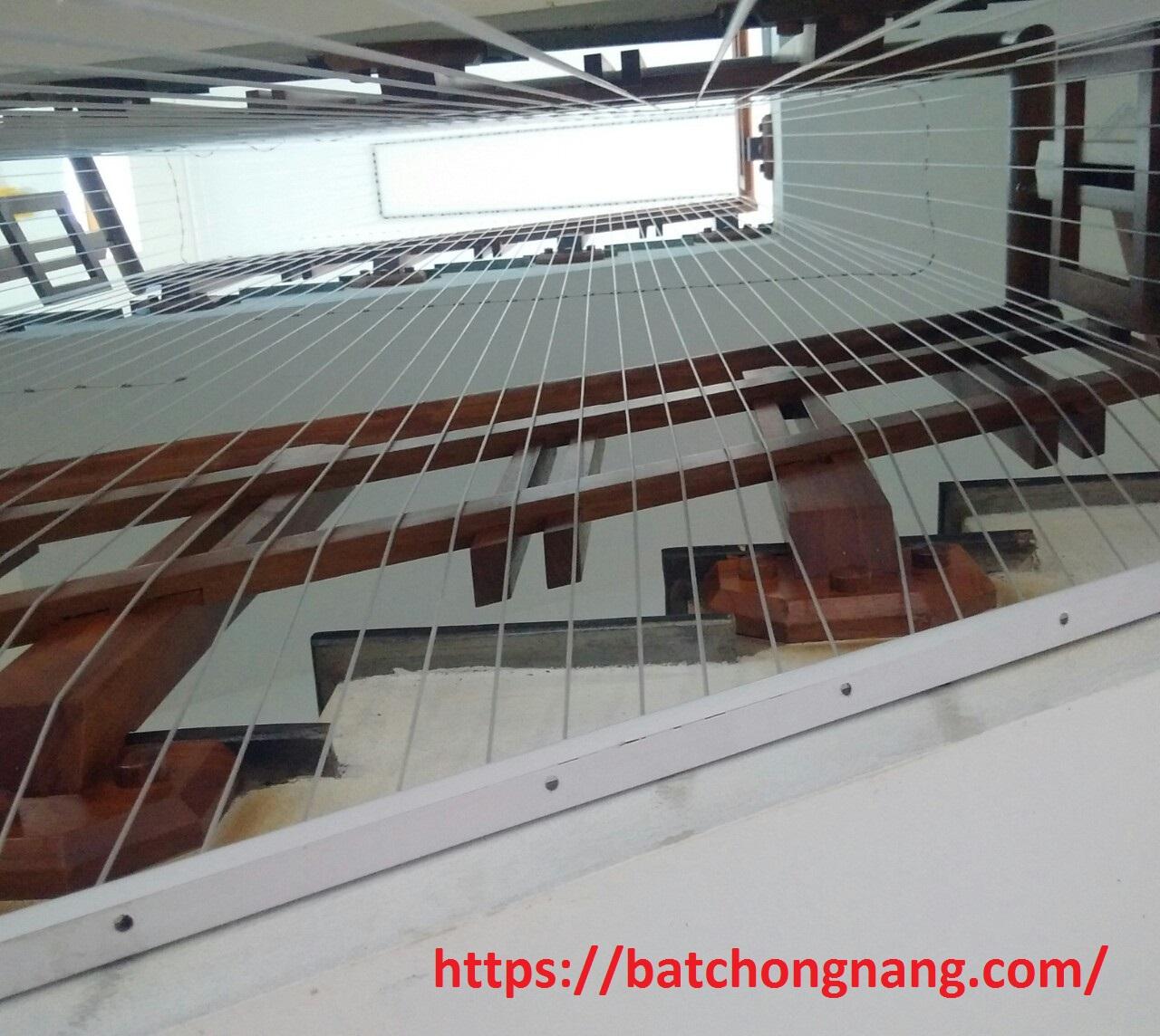 thi công lưới cầu thang trường mầm non tư thục ánh dương