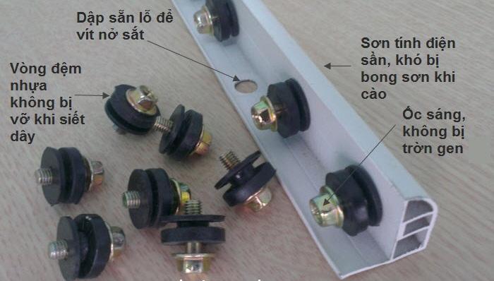 thanh nẹp lưới an toàn