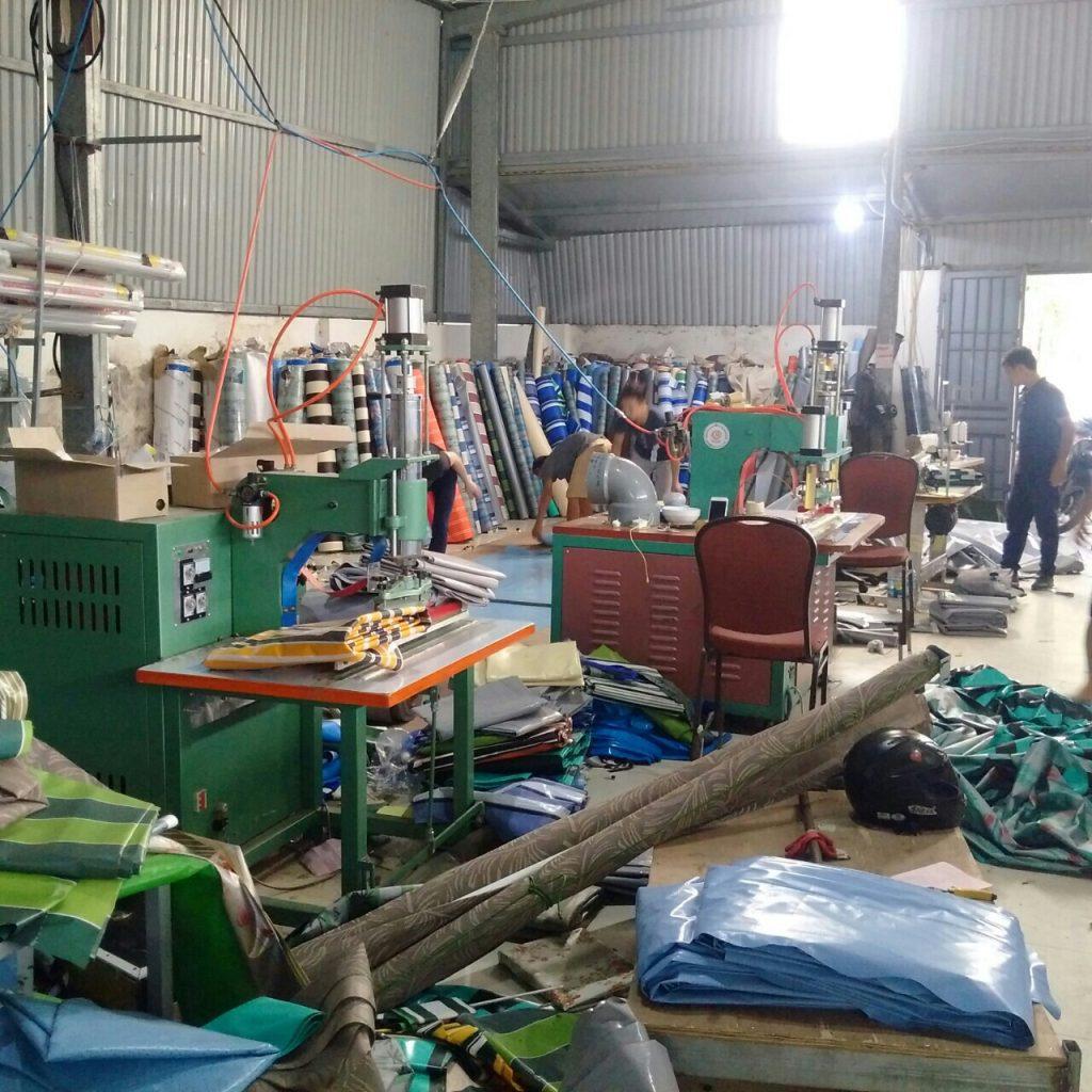 xưởng sản xuất bạt che nắng mưa