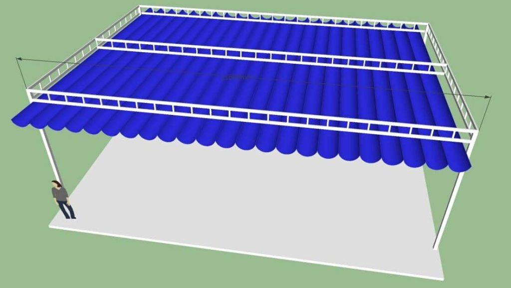 khung mái xếp di dộng